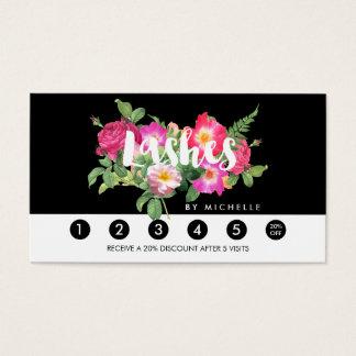 Lealtad floral de la escritura de las extensiones tarjeta de negocios