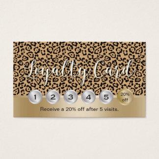 Lealtad moderna del leopardo del estilista del tarjeta de visita