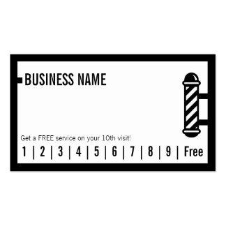 Lealtad negra simple de la peluquería de tarjetas de visita