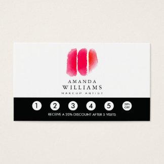 Lealtad roja de las muestras del artista de tarjeta de negocios