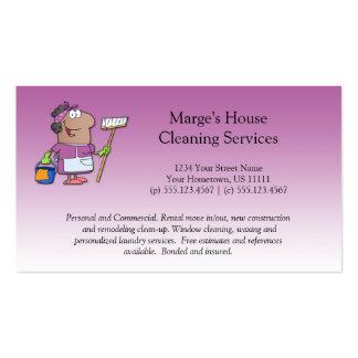 Lealtad rosada del cliente de la limpieza de la tarjetas de visita