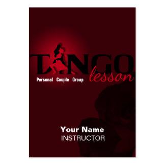 Lección del tango - negocio, horario, tarjeta del tarjetas de visita grandes