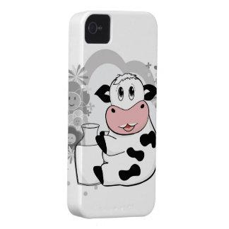 Leche de consumo de la vaca carcasa para iPhone 4 de Case-Mate