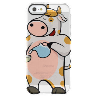 leche de consumo de la vaca funda clear para iPhone SE/5/5s