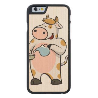 leche de consumo de la vaca funda de iPhone 6 carved® de arce