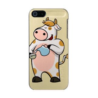 leche de consumo de la vaca funda para iPhone 5 incipio feather shine