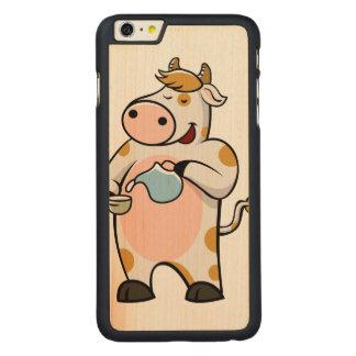 leche de consumo de la vaca funda para iPhone 6 de carved® de arce