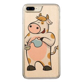 leche de consumo de la vaca funda para iPhone 7
