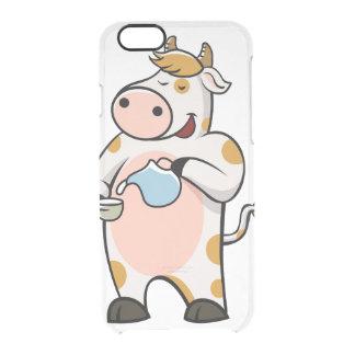 leche de consumo de la vaca funda transparente para iPhone 6/6S