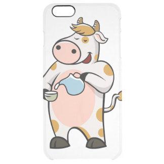 leche de consumo de la vaca funda transparente para iPhone 6 plus