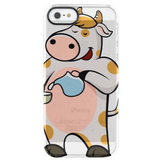 leche de consumo de la vaca funda transparente para iPhone SE/5/5s