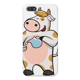 leche de consumo de la vaca iPhone 5 cárcasas