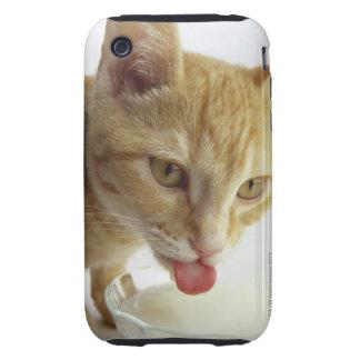 Leche de consumo del gato iPhone 3 tough carcasas