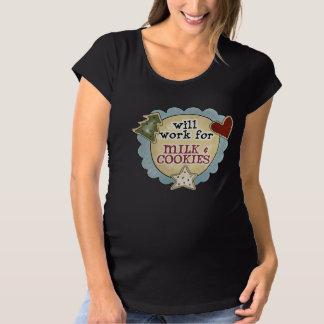 Leche de la diversión y la camiseta de maternidad