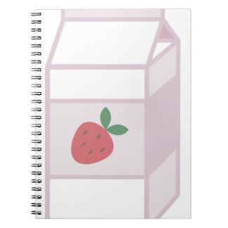 Leche de la fresa cuaderno