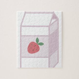 Leche de la fresa puzzle