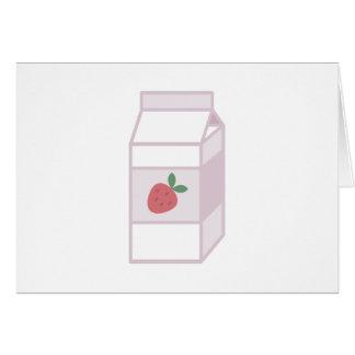 Leche de la fresa tarjeta de felicitación