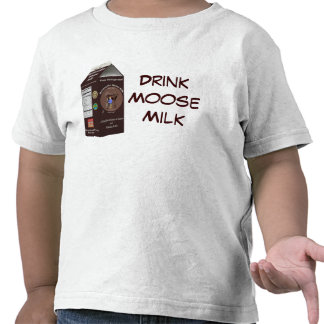 Leche de los alces de Matanuska Camisetas