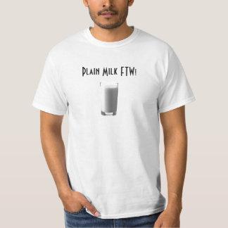 ¡Leche llana FTW! Camiseta
