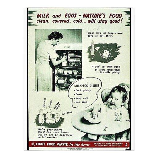 Leche y huevos - la comida de Naturr Tarjeton