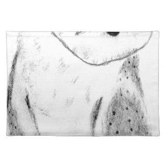 Lechuza común dibujada mano única salvamanteles