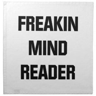 Lector de mente de Freakin Servilleta De Tela