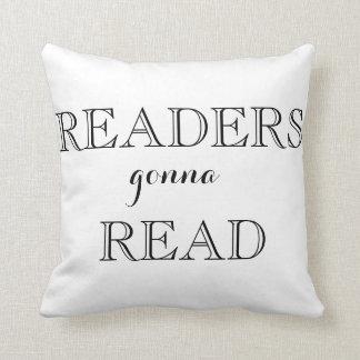 Lectores que van a leer la almohada de tiro