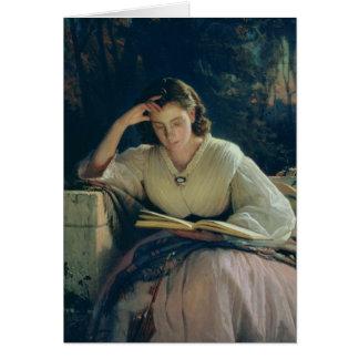 Lectura, 1863 tarjeta de felicitación
