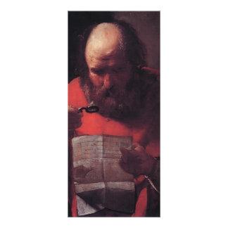 Lectura de Jorte de la Tour- St Jerome Tarjetas Publicitarias A Todo Color