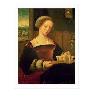 Lectura de Maria Magdalena (aceite en el panel) Postal