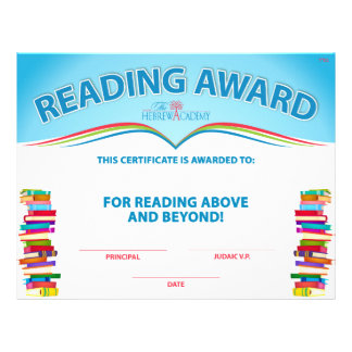 Lectura del premio de las cuentas folleto 21,6 x 28 cm
