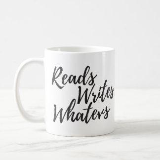 lee escribe la taza de la escritura de los whatevs