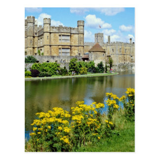 Leeds Castle amarillo, flores de Kent, Inglaterra Postal