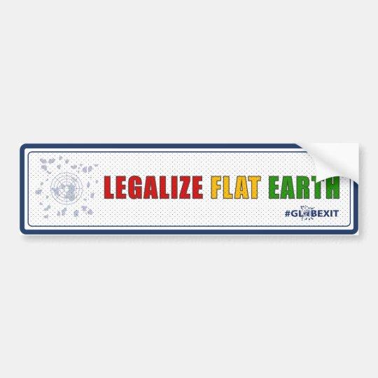 Legalice a la pegatina para el parachoques plana