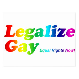 Legalice al gay tarjeta postal