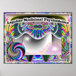 Legalice el poster medicinal de Psychedelics