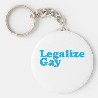 Legalice los azules cielos gay llaveros personalizados