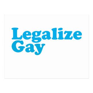 Legalice los azules cielos gay postal