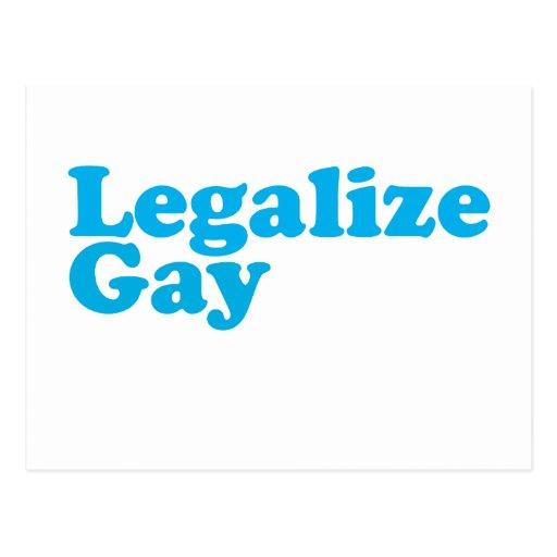 Legalice los azules cielos gay tarjetas postales