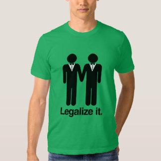 LEGALICE LOS BODAS GAY CAMISETA