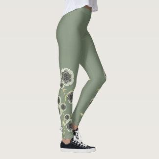 Legging Flores Verdes Leggings