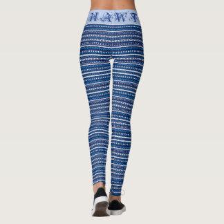 Leggings (50 sombras de edición azul del Azteca HAWT)