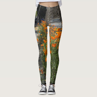 Leggings Amapola de California 2 en sus polainas