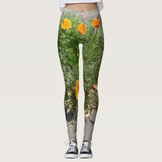Leggings Amapola de California en sus polainas