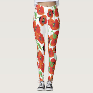 Leggings Amapolas rojas