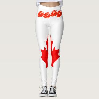 Leggings AMOR de encargo CANADÁ de las polainas