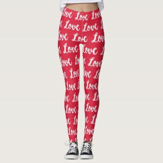 Leggings Amor del ROJO el  