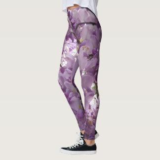 Leggings arbusto púrpura de la flor