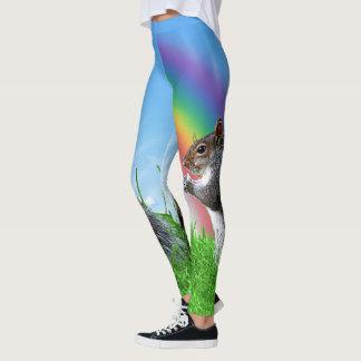 Leggings Ardilla con el arco iris