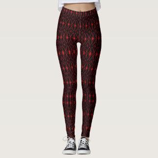 Leggings Azteca rojo